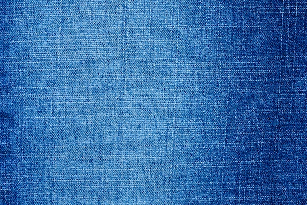 Texture de jeans bleu denim bouchent vue de dessus
