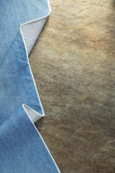 Texture de jeans bleu sur fond