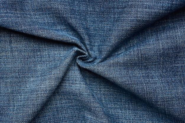 Texture de jeans bleu frisé
