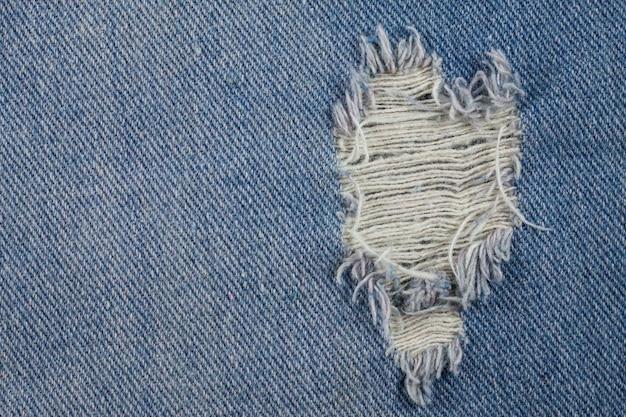 Texture jeans déchirés bleu