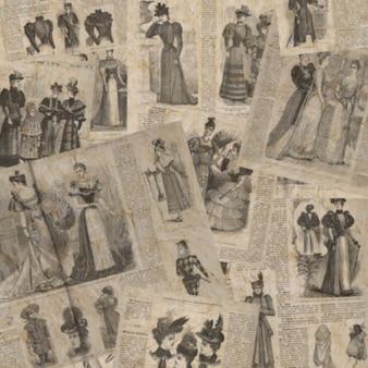 Texture de journal vintage floue