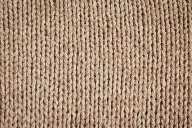Texture de laine tricotée bouchent