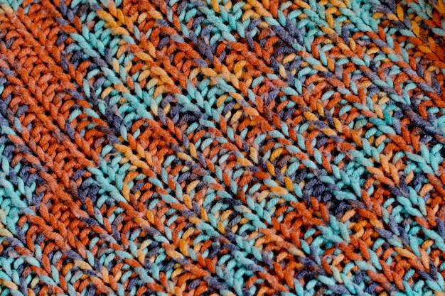 Texture de laine tricotée colorée