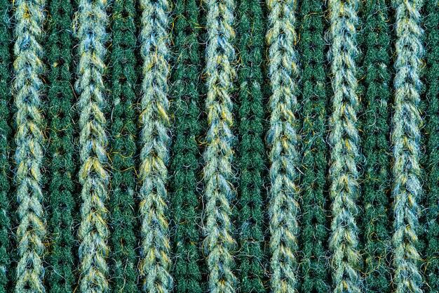 Texture de laine à tricoter verte