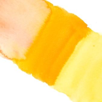 Texture de lavage aquarelle jaune isolé sur fond blanc