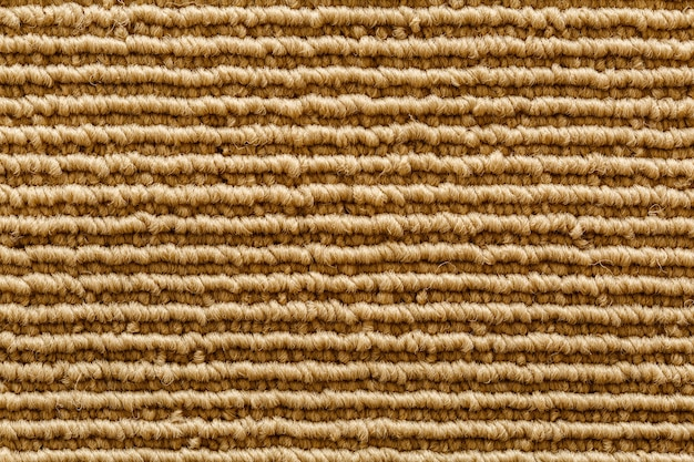 Texture et ligne de ligne sous forme de rainure sur tapis en tissu.
