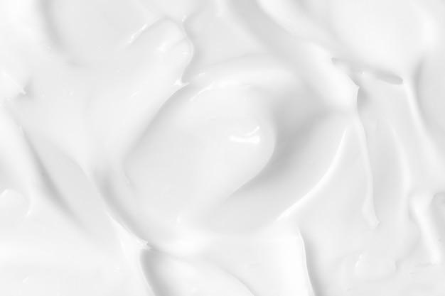 Texture de lotion cosmétique blanche