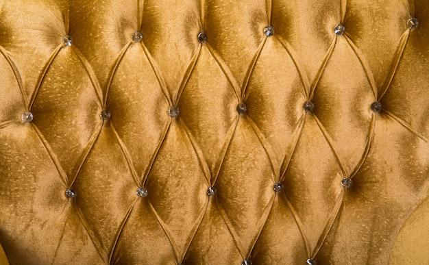Texture de luxe de meubles en cuir décoré de cristal