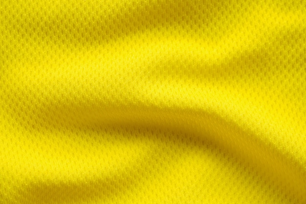 Texture de maillot de football de couleur jaune