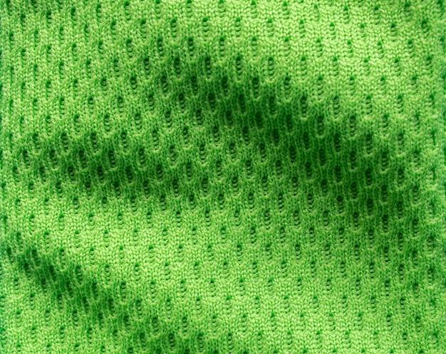 Texture de maillot de football vert