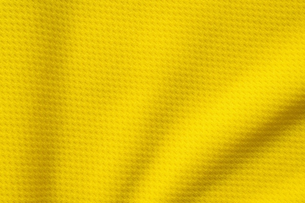Texture De Maillot De Maillot De Football De Tissu De Vêtements De Sport Jaune Bouchent Photo Premium