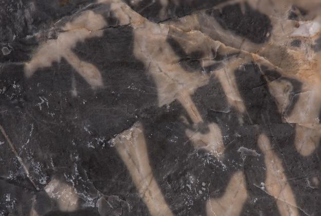 Texture de marbre noir gris isolé sur blanc.