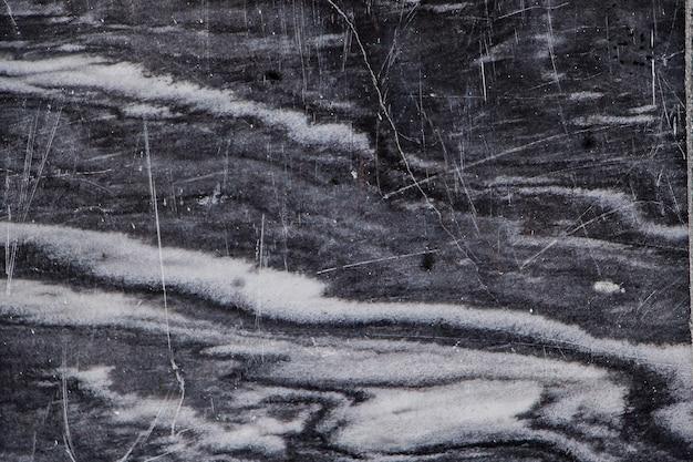 Texture de marbre noir avec gros plan de veines blanches