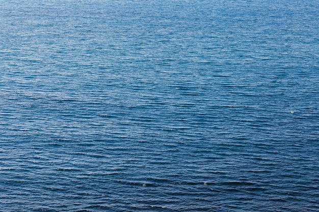 Texture de la mer bleu profond