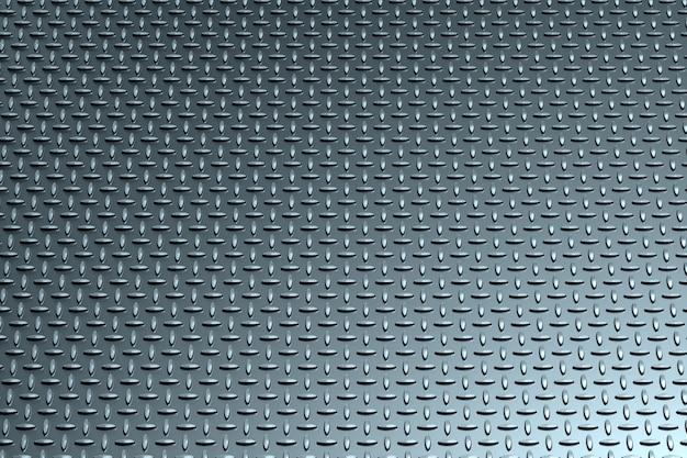 Texture en métal avec un motif d'illustration 3d de losanges, rendu 3d.