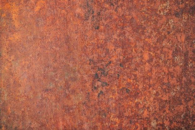 Texture en métal patiné, fond rouillé. plaque de fer enduite de rouille