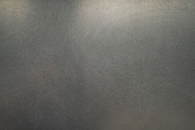 Texture en métal rayé, fond de plaque en acier brossé