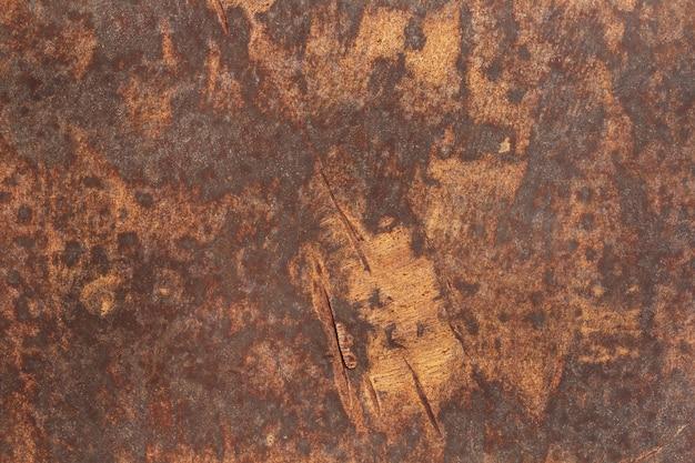 Texture en métal rouillé, cadre en fer ancien avec rayures et fissures.