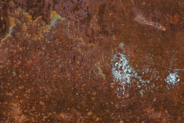 Texture en métal rouillé avec fond de corrosion