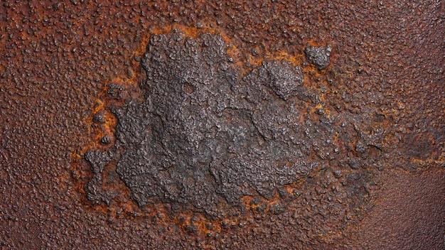 Texture de métal rouillé grunge rouille et fond de métal oxydé vieux panneau de fer en métal