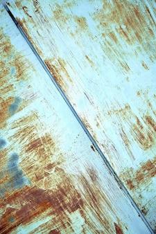 Texture en métal rouillé avec peinture écaillée, couleur bleue. arrière-plan texturé, espace de copie, photo d'en haut. fond de texte.