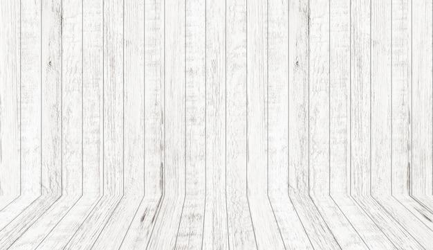 Texture de modèle en bois vintage en vue en perspective. fond de l'espace de la salle en bois vide.