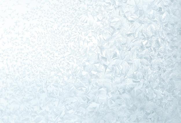 Texture de motif abstrait glace givrée en hiver