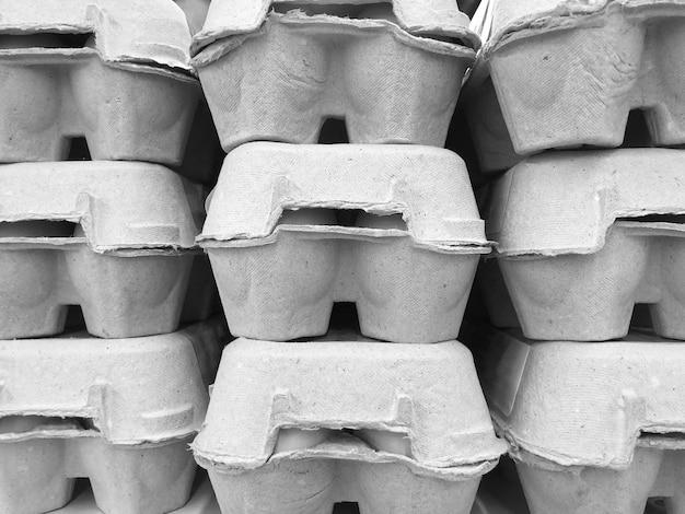 Texture de motif d'emballage d'oeufs, industrie alimentaire, papier recyclé.