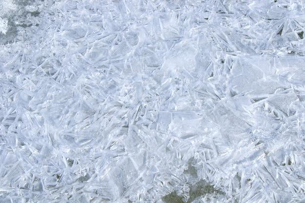 Texture et motif de la glace