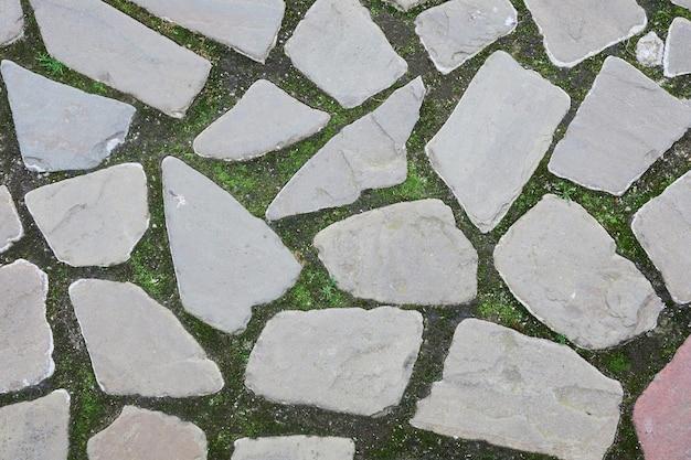 Texture et motif de mur de roche naturelle. une surface ou une structure faite de blocs de pierre.
