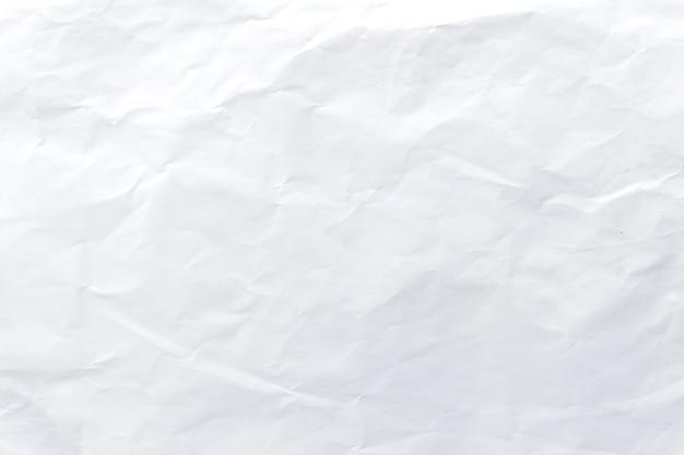 Texture et motif de papier froissé blanc