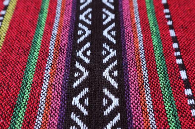 Texture et motif de textile coloré de la région nord de la thaïlande