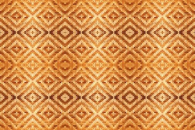 Texture de motif tissé abstraite en bambou pour un fond transparent.