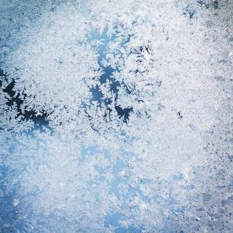 Texture des motifs sur fenêtre figée