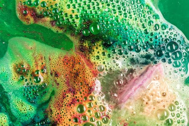 Texture de mousse colorée