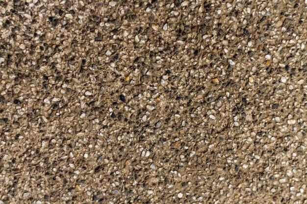 Texture de mur en béton de galets de roche naturelle