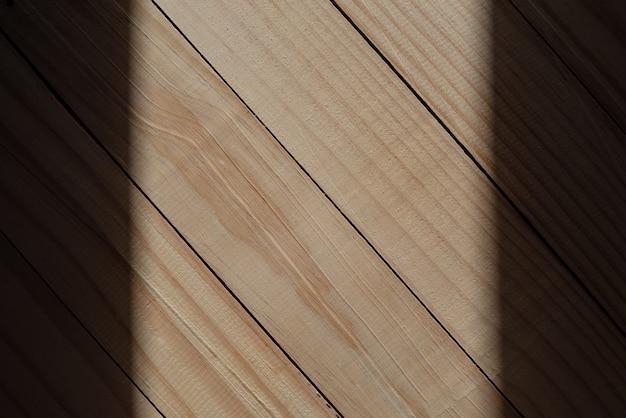 Texture de mur en bois avec bordure ombre pour la conception