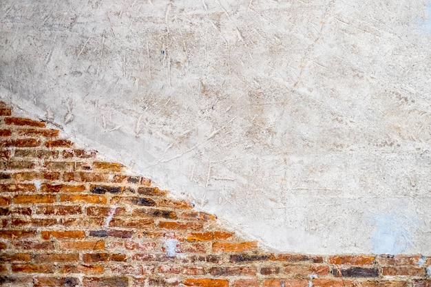 Texture de mur de brique ancienne vide.