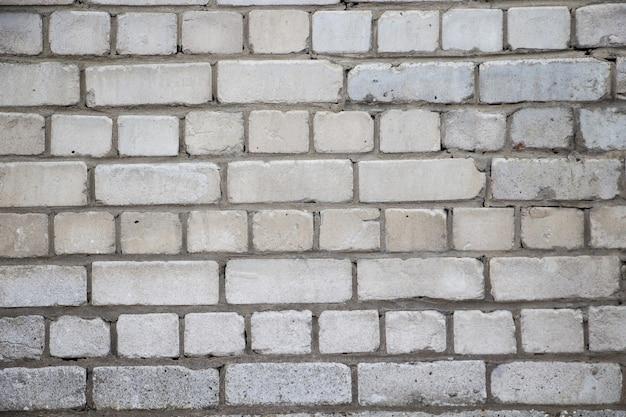 Texture de mur de brique blanche, arrière-plan pour la conception