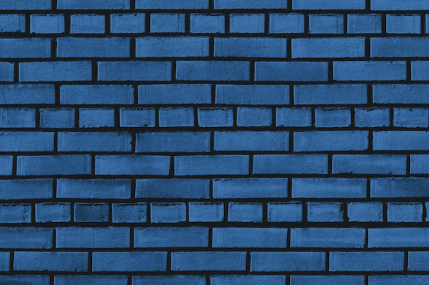 Texture de mur de brique bleue classique