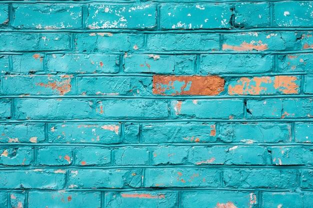 Texture de mur de brique bleue