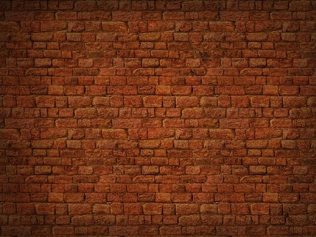 Texture de mur de brique grunge 3d