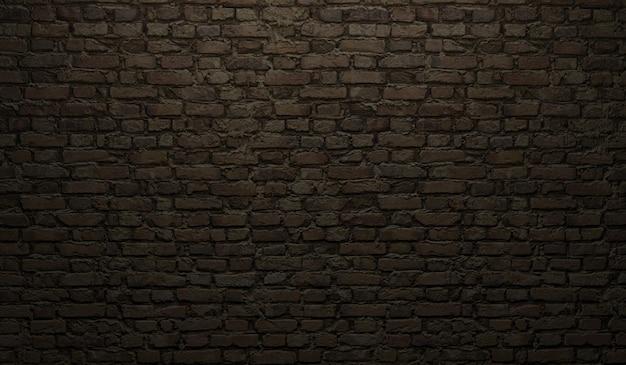 Texture De Mur De Brique Noire Photo Premium