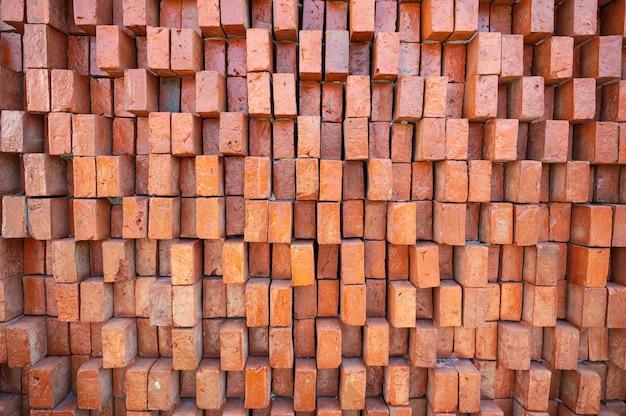 Texture de mur de brique orange robuste rétro
