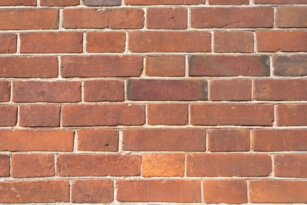 Texture de mur de brique rouge.
