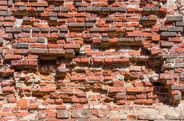 Texture de mur de briques rouges