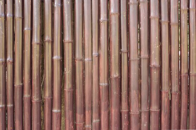 Texture de mur de clôture de bambou vieux brun pour le fond