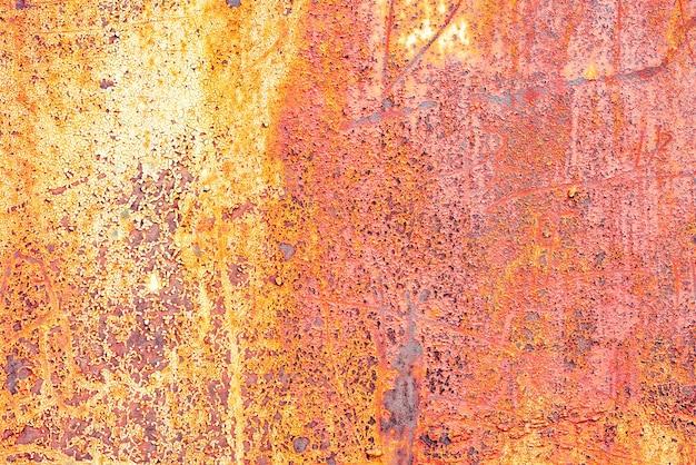 Texture d'un mur métallique avec fond de fissures et de rayures