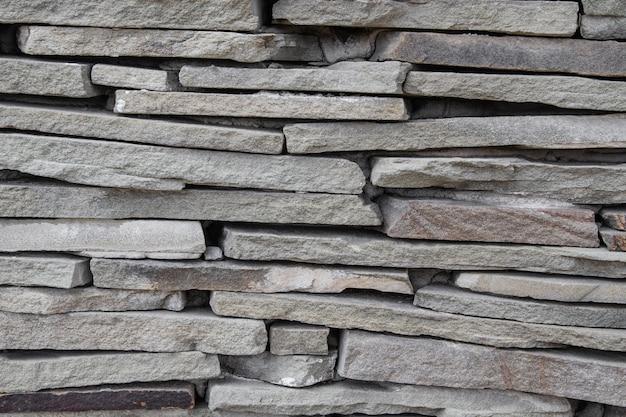 Texture de mur en pierre grise naturelle