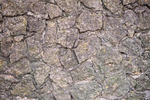 Texture de mur en pierre grise rugueuse
